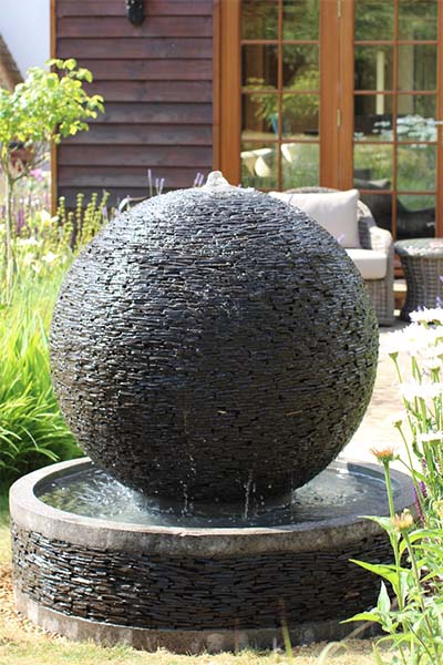 Round Ball Slate Water Features